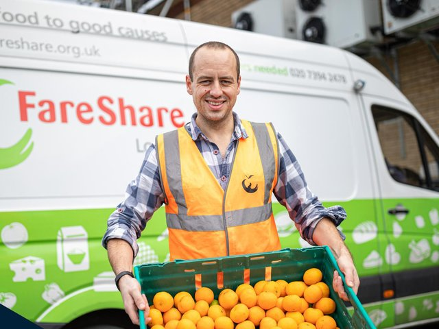Fortec has partnered with FareShare to help distribute surplus food.