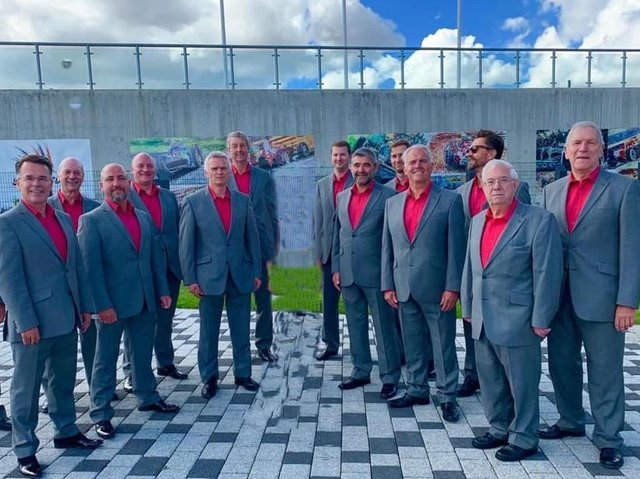Northampton Male Voice Choir Lite, at Silverstone Circuit in 2019