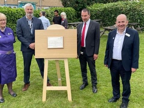 (Left to right): Sheran Oke, Director of Nursing, Midwifery & Patient Services/DIPC at NGH, Medical Director Matthew Metcalfe and Group CEO Simon Weldon.