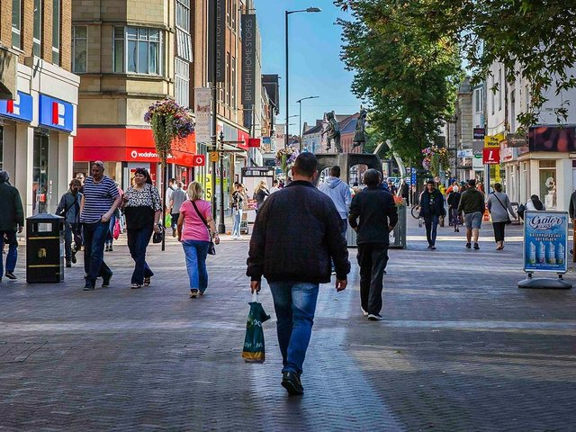 Town centre restaurants saw a huge spending increase when indoor hospitality was allowed to reopen.