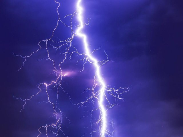 Forecasters are warning of thunder and lightning over the county on Saturday