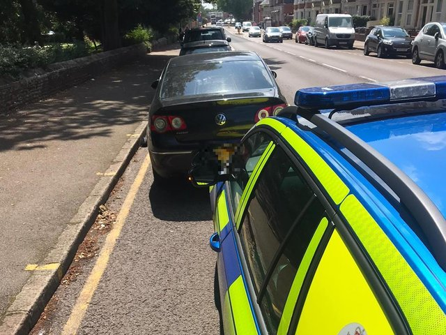 This car was seized when police found that the driver only had a provisional licence.