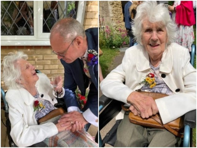 Betty Lee got to attend the wedding of her son, Vaughn, in Bozeat thanks to the help of staff at Timken Grange care home