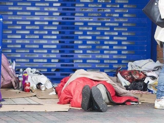 Rough sleepers in Northampton