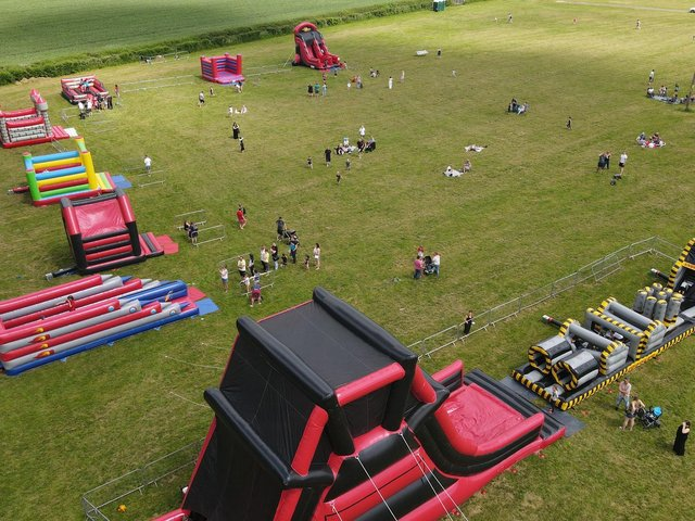 The Mega Bounce Inflatable Play Park is coming to various locations in Northamptonshire this summer.