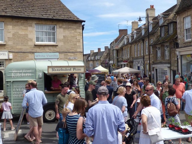 The Oundle Food Festival takes place in the town centre every year.
