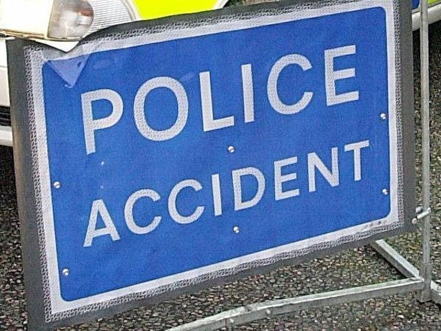 Two lanes are currently closed on the M1 due to a collision.