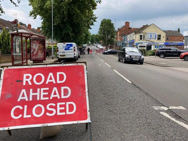 Kettering Road is closed through Kingsley