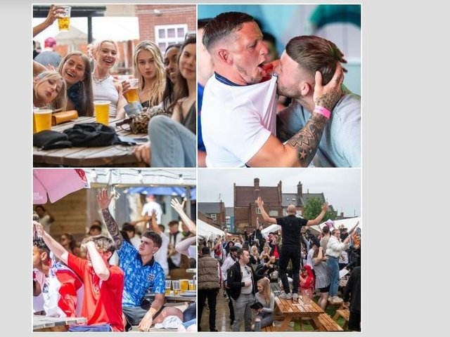 Here we take a look back at the Chron's coverage of Euro 2020 with photos from Jimmy's Sports Bar, Barratts, Sir Pickering Phipps, Sixfields Tavern, Thomas A Becket, The Picturedrome and Black Prince. Pictures by Kirsty Edmonds and David Jackson.
