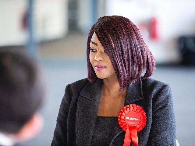 Labour ward member for Talavera on Northampton Town Council, Lorraine Chirisa photographed at the elections in May