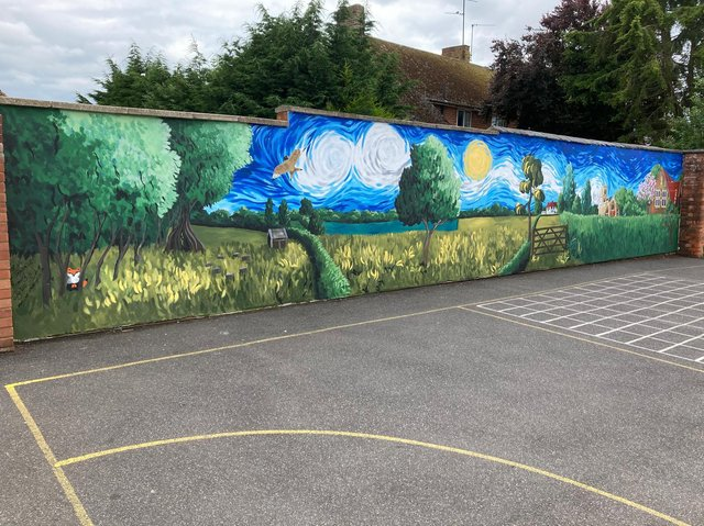 Kerry says the finished mural is 'breathtaking'.