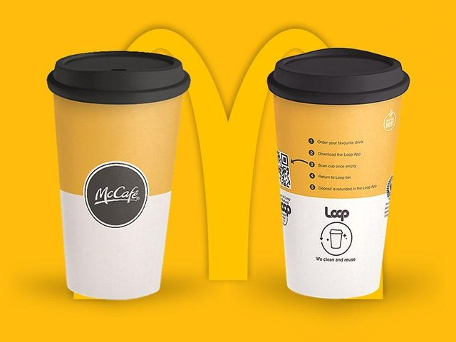 McDonald's in Northampton and Wellingborough are taking part in the reusable cup trial