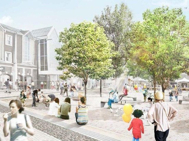 Artists impressions showed what the Market Square could look like by 2024