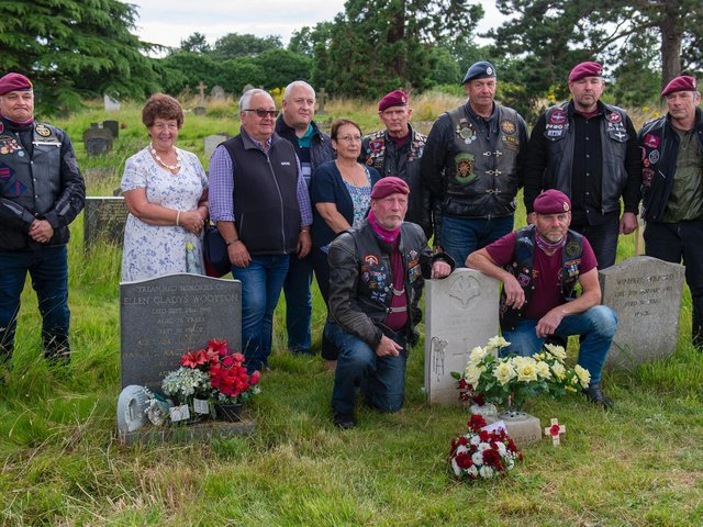 The group assembled to honour Private Gerald Bull. Photo: Ian Topham.
