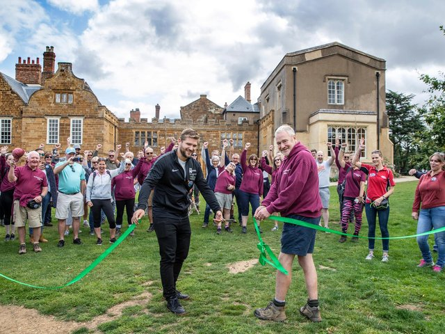 The ribbon-cutting ceremony to open the new scenic signposted walking route at Delapré Park on Sunday, August 29 2021.
