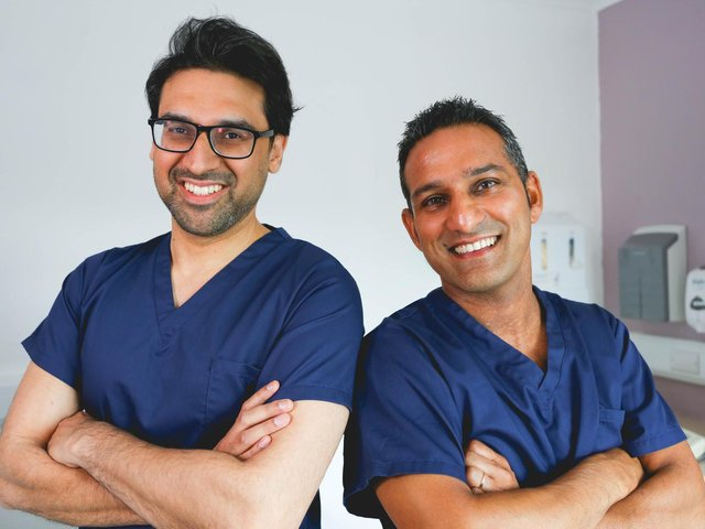 Dr Adil and Dr Dev.