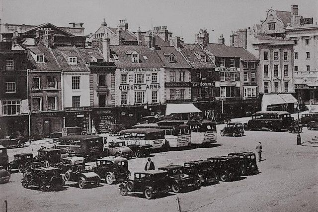 The Market Square used to be packed with popular drinking spots.